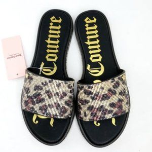 JUICY COUTURE Women's Yippy Beaded Slide Sandals 6